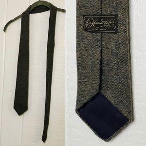 VINTAGE Wool Tie
